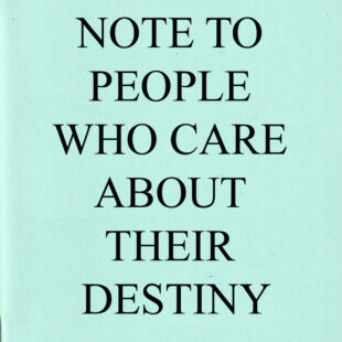 Note to People who care…